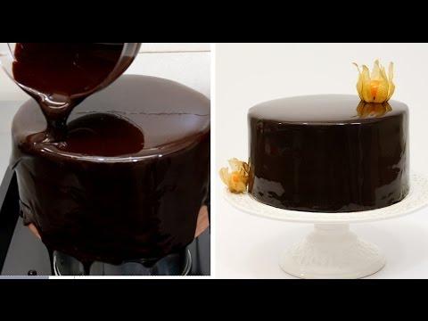 Chocolate Mirror Glaze Cake Recipe CHOCOLATE HACKS by Cakes Step by Step