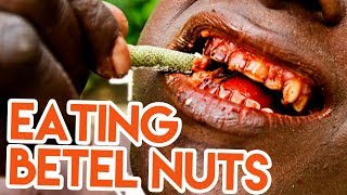 EATING BETEL NUTS | ADDICTIVE PLANT IN INDONESIA | TRAVEL VLOG