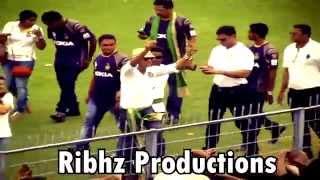 Shahrukh Khan LIVE dance at Eden Gardens Kolkata Knight Riders celebrations IPL 2014