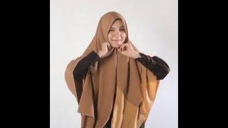 Tutorial Hijab Segi Empat Simple dan Mudah - Khimar Maxi Alila