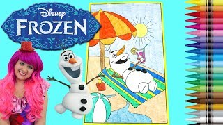 Coloring Olaf Disney Frozen GIANT Coloring Book Page Crayola Crayons   KiMMi THE CLOWN