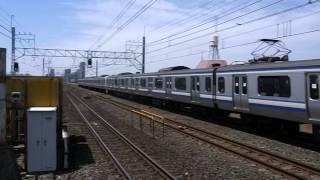 総武快速線 E217系 通過 2