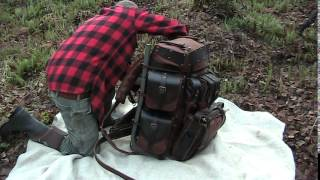 Handmade Custom Leather Backpack :Behemoth:  Fully Modular Expedition Bag on a Bull Pac Frame