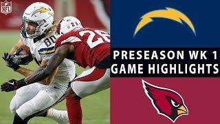 Chargers vs. Cardinals Highlights   NFL 2018 Preseason Week 1
