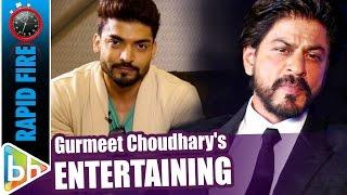 Gurmeet Choudhary's ENTERTAINING Rapid Fire On Shah Rukh Khan | Deepika Padukone | Salman Khan