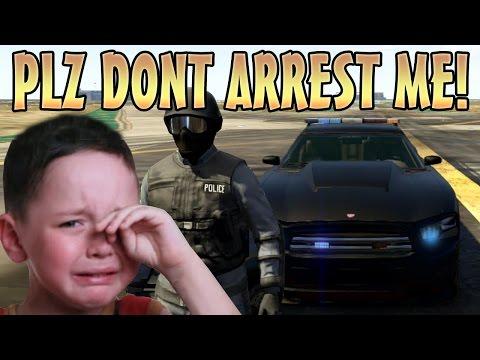 ARRESTING KIDS ONLINE WITH COP MOD! (GTA 5 Funny Trolling)