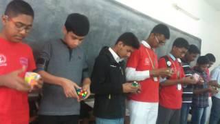 Rubik's cube solving @ Dhaka Residential Model College (junior-qualifier)
