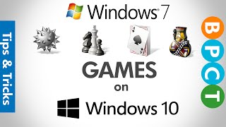 Install Windows 7 Games on Windows 10 (Chess Titans, Minesweeper, Solitaire etc.)