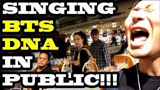 SINGING KPOP IN PUBLIC - BTS DNA!!