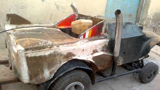 احلى صنع سياره لاسلكيه بمحرك بانزين بصنع شاب عراقي