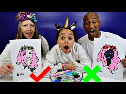Xxx Mp4 3 MARKER CHALLENGE With Barbie MUM VS DAD Edition 3gp Sex