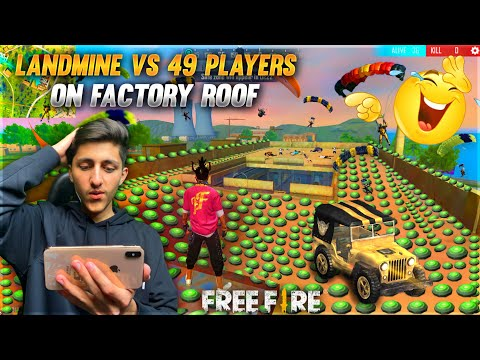 Landmine Vs 49 Other Players On Factory Roof Funny Moments Garena Free Fire