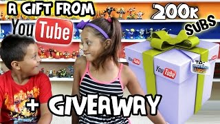 A Gift from YouTube? + 200k Subscribers Giveaway (Skylander Boy & Girl Contest) Silver Play Button