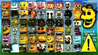Super FNaF WORLD All 54 Characters Unlocked (All Animatronics)