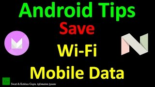 How to use 'data saver'/'disable background data' feature Android (Marshmallow, Nougat Tips Tricks)