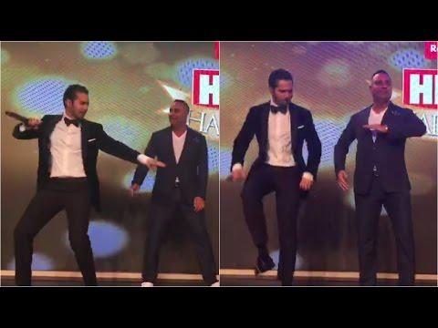 Varun Dhawan Dancing With Russell Peters On Tamma Tamma Again