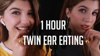 ASMR [1 MILLION SUBS//1 HOUR] Twin Ear Eating ~