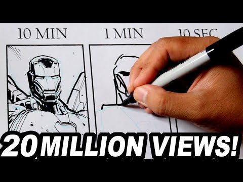 Xxx Mp4 DRAWING IRON MAN In 10 MINUTES 1 MINUTE 10 SECONDS 3gp Sex