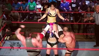 [Free Match] Kimber Lee & Heidi Lovelace vs. Chris Dickinson & Sami Callihan (Intergender Wrestling)