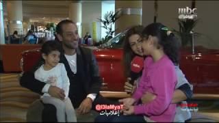 عبد المنعم عمايري بنات النجم عبد المنعم يقتحمون مقابلته مع رندا جبر