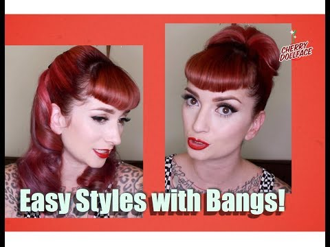 Xxx Mp4 Vintage Hair Styles With Bangs Faux Victory Rolls Top Bun By CHERRY DOLLFACE 3gp Sex