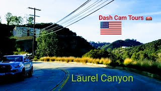 Dash Cam Tours 🚘 Driving over the Laurel Canyon Mountain Pass