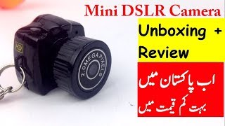 Mini DSLR Spy Camera In Pakistan Unboxing Review Urdu Hindi