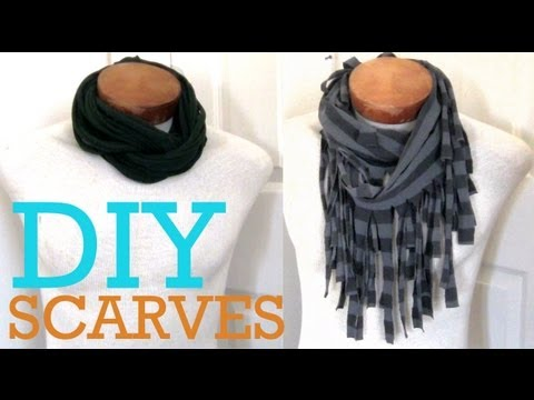 DIY Fall Scarves 2 Ways To Make A Scarf From A T shirt