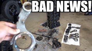 CUMMINS BILLET ROD COMPLETE ENGINE TEARDOWN!!! **VERY VERY BAD NEWS!!!**