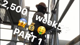 My life scaffold builder how I make  2,500 a week no college Part 1!