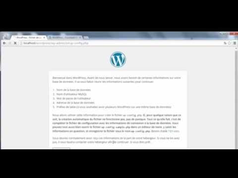 wordpress شرح darija tuto 2   Installation de Wordpress WAMP darija