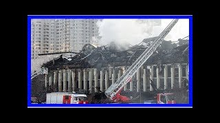 Fire devastates russian academy library