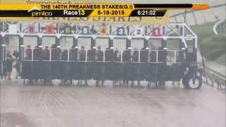 American Pharoah wins the Preakness Stakes