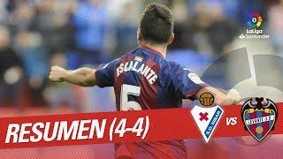 Resumen de SD Eibar vs Levante UD (4-4)