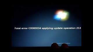 How to fix fatal error code C0000034 on Windows 10,7,8? Step by Step Guide