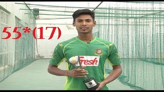 Mostafiz 55* Run of 17 Ball BAN Vs IND / World Cricket Championship 2 [ Full HD]