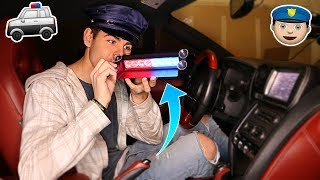 USING FAKE POLICE LIGHTS PULLOVER PRANK... Then This Happens | David Vlas