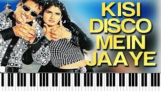 Kisi Disco Mein Jaaye | Bade Miyan Chote Miyan ♫ | Hindi Song Notes | Piano 4 U ♫ Cover