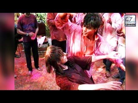 Xxx Mp4 Throwback Video Shah Rukh And Gauri Khan 39 S Crazy Dance At A HOLI Party 3gp Sex