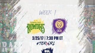 USL LIVE - Tampa Bay Rowdies vs Orlando City B 3/25/17