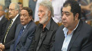عادل امام والراحل خالد صالح و نخبة من نجوم الفن في عزاء سعيد صالح