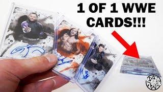 SUPER RARE 1 OF 1 WWE AUTOGRAPH CARDS UNBOXING!!! TRIPLE H, Y2J, HARDY BOYZ