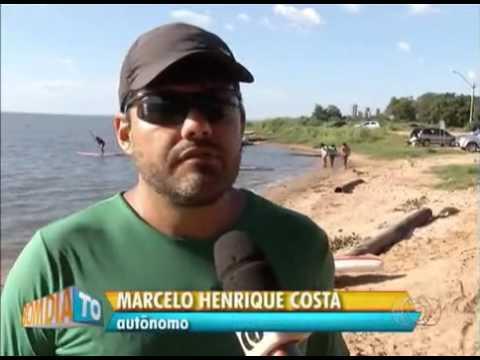 Sem ataque de piranhas banhistas se refrescam em Palmas. BD TO - 29/02/2016