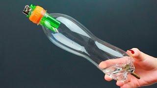 1 cool idea from a bottle and a lighter