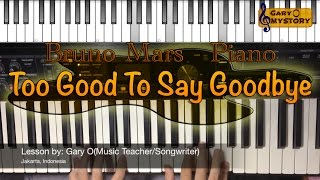 Bruno Mars  Too Good To Say Goodbye Easy Piano Tutorial Free Sheet Music New Song Cover 2016