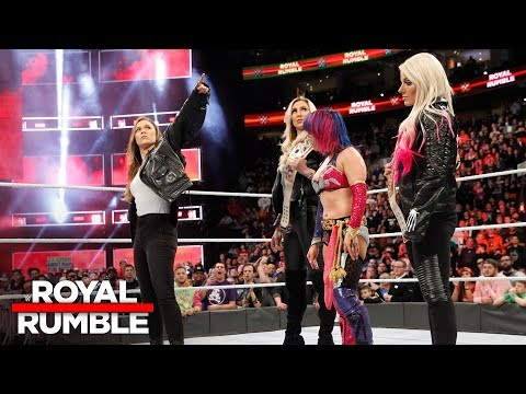 Xxx Mp4 Ronda Rousey Confronts Asuka Alexa Bliss And Charlotte Flair Royal Rumble 2018 WWE Network 3gp Sex