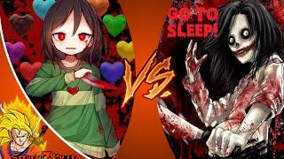CHARA vs JEFF THE KILLER! (Undertale vs Creepypasta) Cartoon Fight Club Episode 93 REACTION!!!