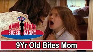 9Yr Old Bites Mum For Taking Her Phone! | Supernanny
