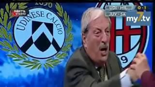 """DirettaStadio 7Gold Udinese Milan 1-1 Tiziano Crudeli """"TUTTI A CASA!!"""""""