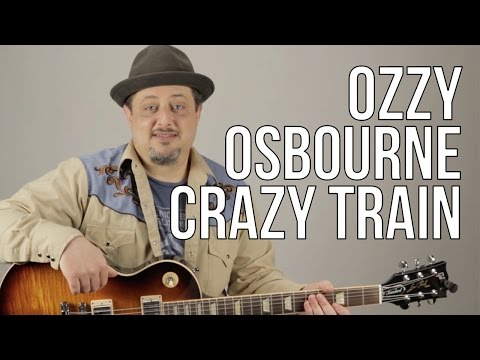 Crazy Train Guitar Lesson - Ozzy Osbourne - Opening Riff - How to Play on Guitar